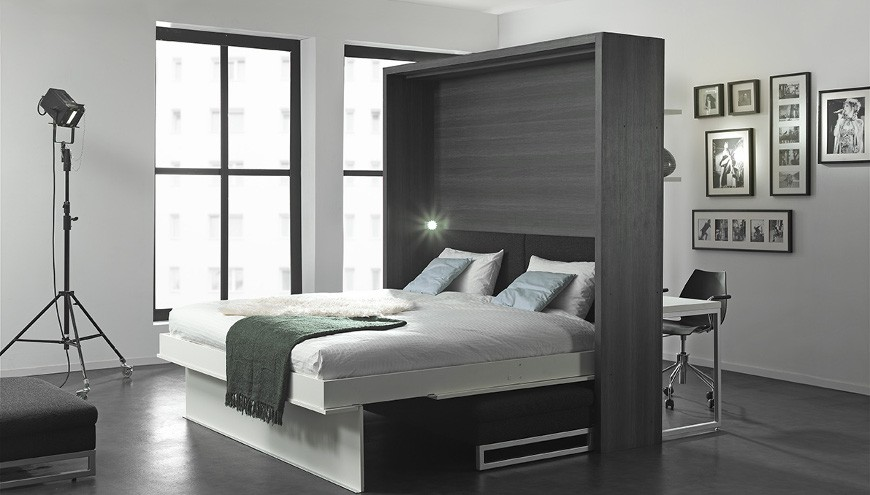 Boone klappbett loft ventura mit sofa platzsparend - Systeme lit escamotable ...