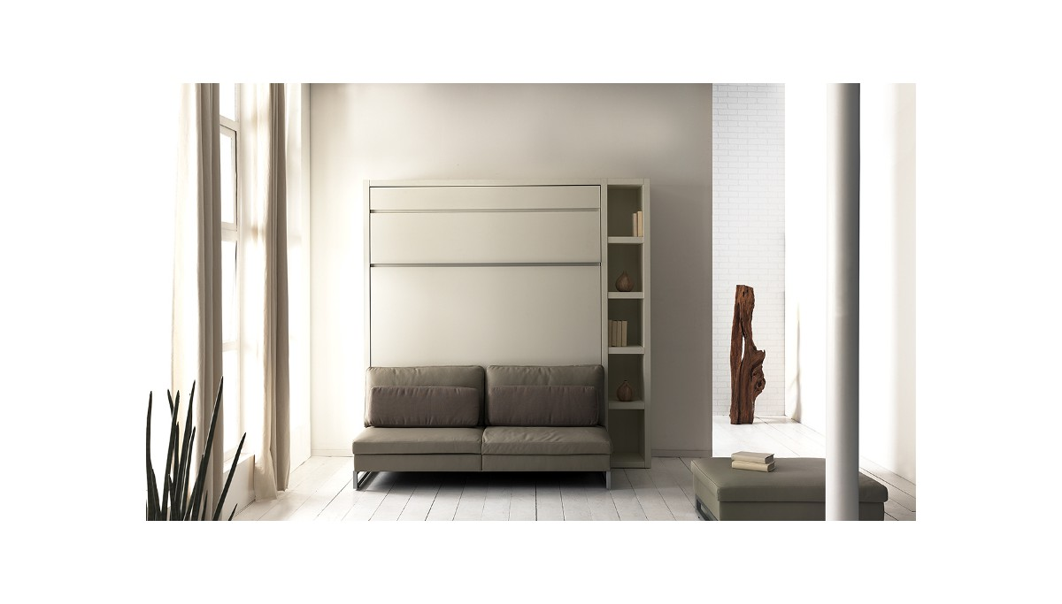 Boone opklapbed loft ventura met zetel kastbed ruimtebesparend - Charniere pour lit escamotable ...