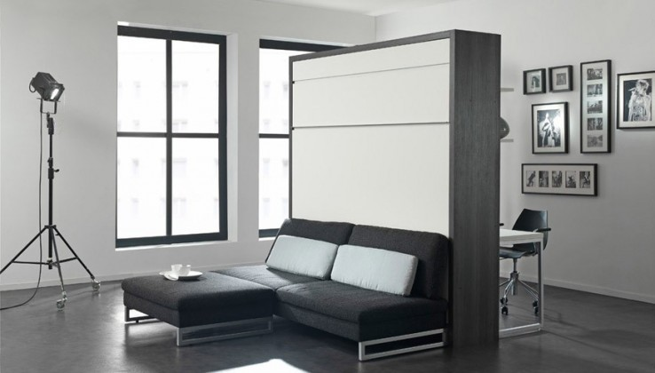 boone klappbett loft ventura mit sofa platzsparend. Black Bedroom Furniture Sets. Home Design Ideas