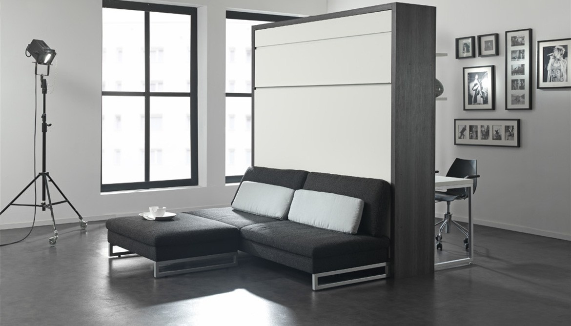 lit escamotable boone meuble de salon contemporain. Black Bedroom Furniture Sets. Home Design Ideas